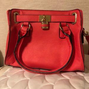 Charming Charlie's Coral Pink Handbag